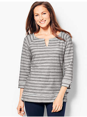Talbots Stripe Terry Top