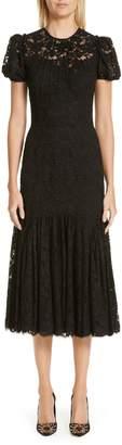Dolce & Gabbana Ruffle Lace Dress