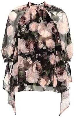 Erdem Nayla printed silk blouse