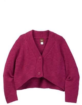 Tea Collection Mochi Knit Crop Cardigan (Baby Girls)