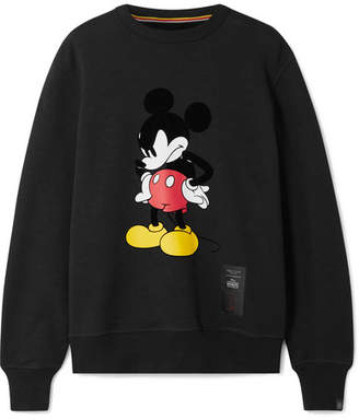 Rag & Bone Disney Printed Cotton-jersey Sweatshirt - Black