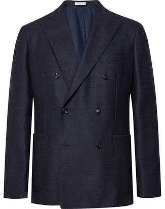 Boglioli Navy Slim-Fit Double-Breasted Virgin Wool Blazer