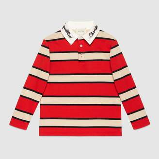 Gucci Children's embroidered jersey polo
