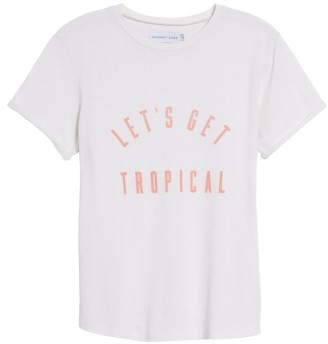 Women's Sincerely Jules Tropical Graphic Tee $69 thestylecure.com
