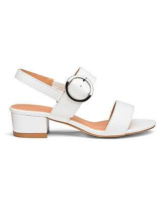 aeba85fce51 Silentnight Isabel Low Block Heel Sandal Wide Fit