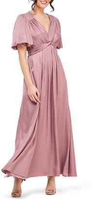 1570f83a110 Gal Meets Glam Genevieve Empire Waist Pleated Maxi Dress