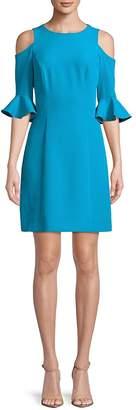 Nicole Miller Cold-Shoulder Sheath Dress