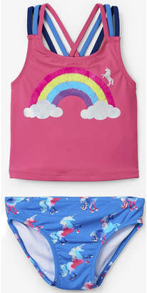 Hatley Rainbow Unicorn Sporty Tankini Set