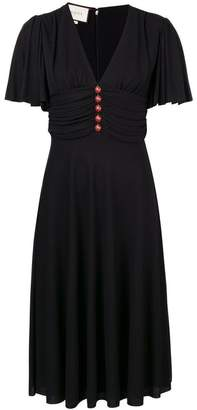 Gucci ladybug buttons flared dress