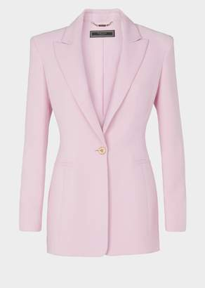 Versace Shoulder Pad Silk Blazer
