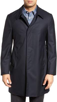 Hickey Freeman Classic Fit Wool & Cashmere Traveler Topcoat