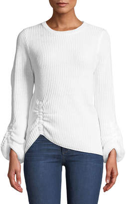 Nicole Miller New York Ruched Balloon-Sleeve Sweater