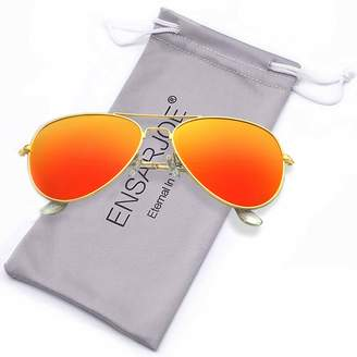 2455a5da23 ENSARJOE Polarized UV400 Classic Aviator Sunglasses For Men And Women
