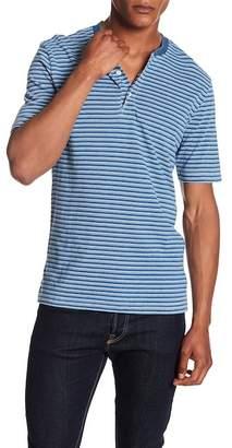Weatherproof Striped Short Sleeve Henley Tee