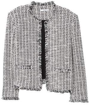 MANGO Trim tweed jacket