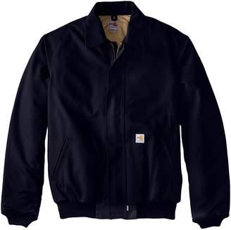 Carhartt Men's Big & Tall Flame Resistant Duck Bomber Jacket,Dark Navy,Large/Tall