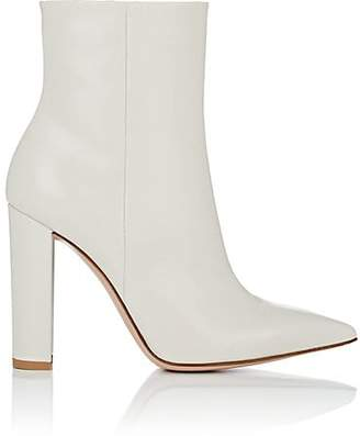 Gianvito Rossi Women's Piper Leather Ankle Boots - Offwhite