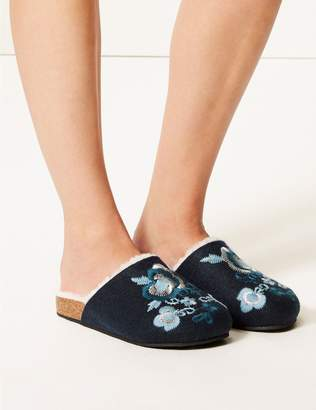 Marks and Spencer Embroidered Mule Slippers