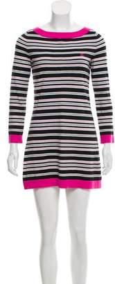 Chanel Striped Rib Knit Dress