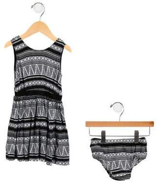 DKNY Girls' Printed Dress Set