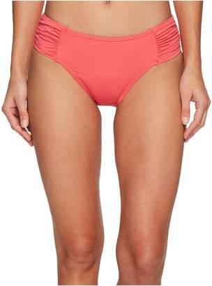 Tommy Bahama Pearl High-Waist Side-Shirred Bikini Bottom Women's Swimwear