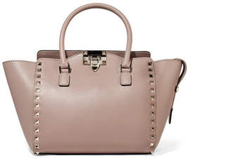 Valentino Garavani The Rockstud Leather Tote - Taupe