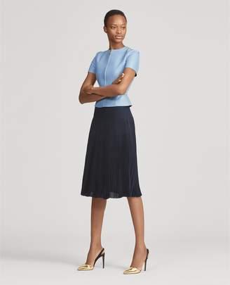 Ralph Lauren Pleated Crepe Skirt