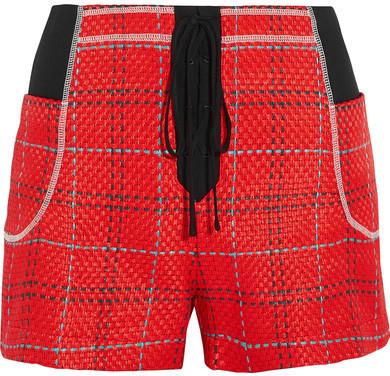 3.1 Phillip Lim3.1 Phillip Lim - Twill-paneled Tweed Shorts - Red