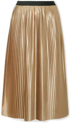 By Malene Birger Verlano Pleated Satin Midi Skirt - Gold