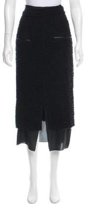 Acne Studios Form Bouclé Midi Skirt