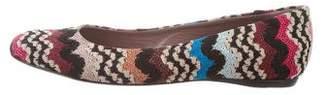Missoni Pattern Knit Ballet Flats