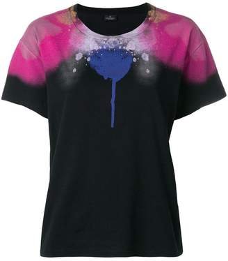 Marcelo Burlon County of Milan abstract spray paint print T-shirt
