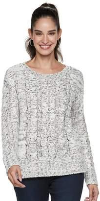 JLO by Jennifer Lopez Women's Chunky Cable-Knit Sweater