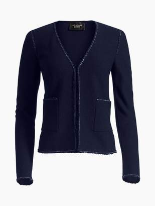 St. John Ana Boucle Knit V-Neck Jacket