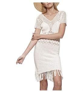 MinkPink Falls Fringe Crochet Dress