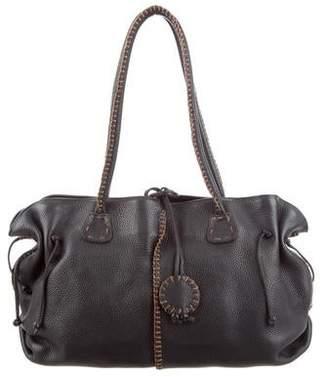 Carlos Falchi Fatto a Mano by Grained Leather Bag