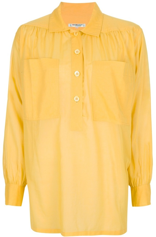 Yves Saint Laurent Vintage semi-sheer shirt