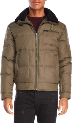 Kenneth Cole Reaction Faux Fur Sherpa Down Jacket