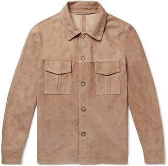 Valstar Slim-Fit Unlined Suede Shirt Jacket
