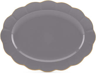 "Lenox Marchesa by Ironstone Shades of Grey 16"" Oval Platter"