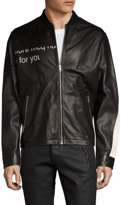 McQ Men's Leather Racer Jacket
