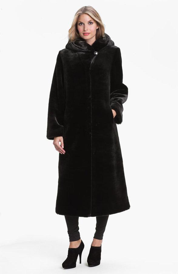 Kristen Blake Hooded Faux Fur Coat