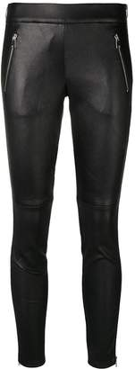 Alexander McQueen zipped leather leggings