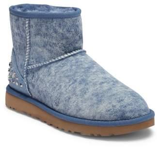 UGG Mini Studded Bling Genuine Shearling Boot