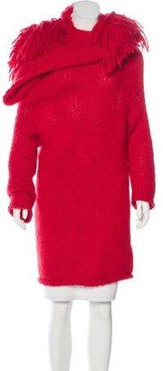 Yohji Yamamoto Knit Fringe-Accented Sweater $295 thestylecure.com