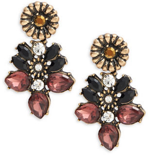 Design Lab Lord & Taylor Floral Cluster Earrings $18 thestylecure.com