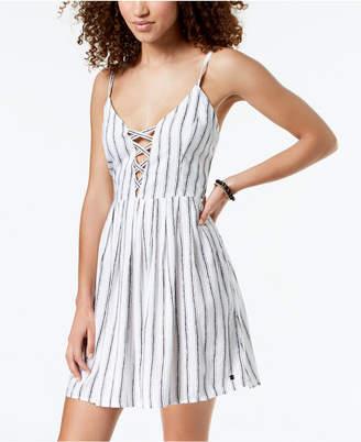 Volcom Juniors' Cross Paths Lace-Up Dress