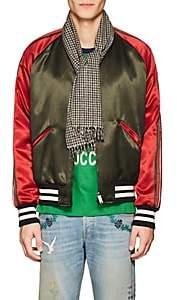 Gucci Men's Tiger Patch Wool-Cashmere Scarf - Beige, Tan