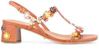 Car Shoe floral applique sandals