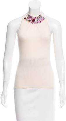 Christian Dior Embellished Cashmere Top w/ Tags